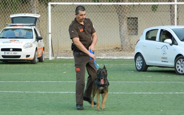 Exhibición canina con perros de seguridad en Fegado 2019