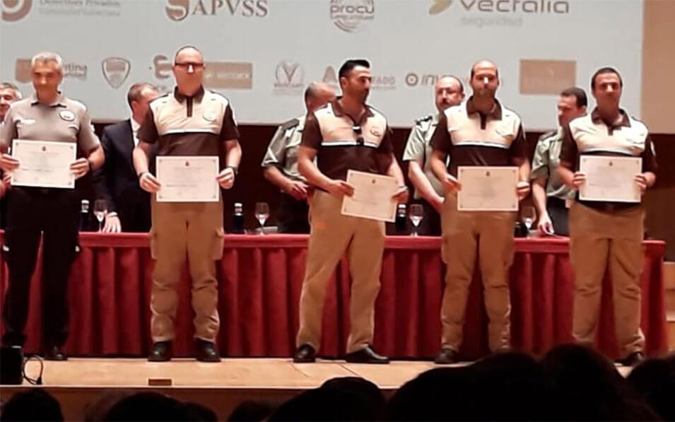 Menciones honoríficas a 5 vigilantes reconocidos - Vigiprot